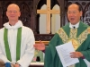 Archbishop Paul presenting Fr. Nigel to the congregation