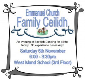 Emmanuel Church - Pokfulam Family Ceilidh (scottish Dancing) Sat 5 Nov 2011