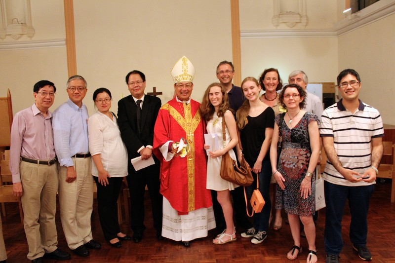 Emmanuel Church Parishioners and Friends after being Confirmed in St John's Cathedral by Archbishop Paul Kwong on Pentecost Sunday,