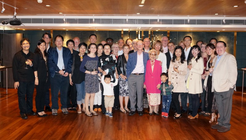 Group Photo of parishioners at  our Autumn Dinner in the lovely Hong Kong Country Club.